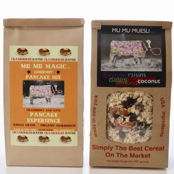 Healthy Breakfast combo of 1 bag healthy pancake mix plus one bag of the best organic muesli recipe