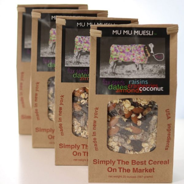 4 Bags of organic muesli you can buy online