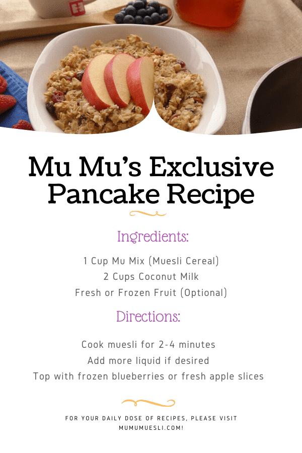 Basic Oatmeal Recipe with Muesli Breakfast Cereal