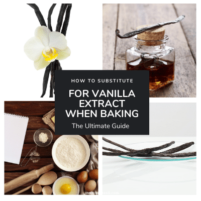 Types of vanilla that can be replced with a vanilla sugar substitute