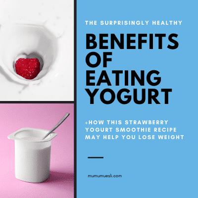 Strawberry Smoothie REcipe with Yogurt