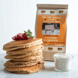 Healthy pancakes with the bag of pancake mix